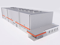 industrial building 14 3d model