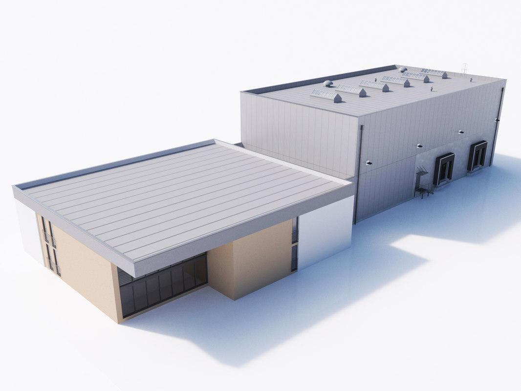 industrial building 15 obj