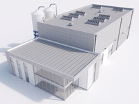 3d model industrial building 17
