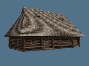 obj old ukrainian house 19th