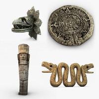 aztec statues 3d max