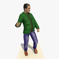 realistically european man green c4d