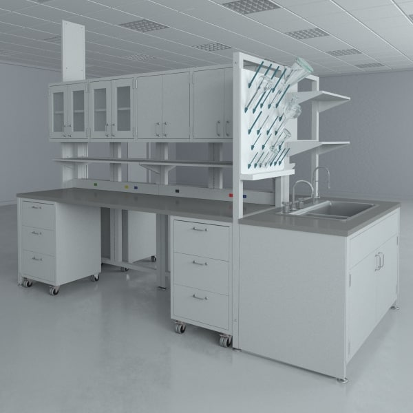 lab furniture typical set 3d max