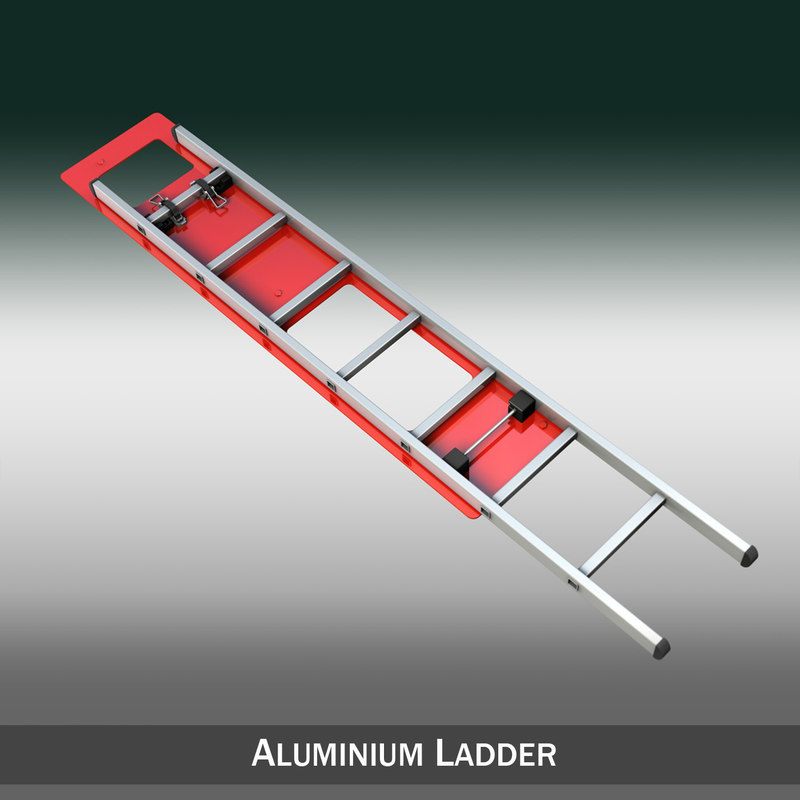 cinema4d aluminum ladder vehicle mounting