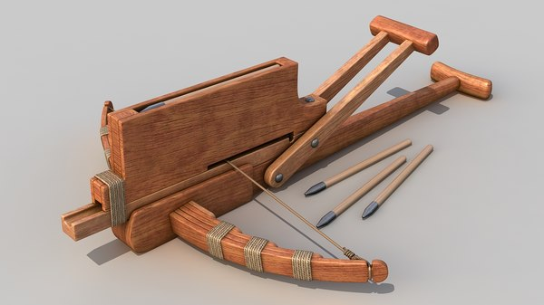 3d cho-ko-nu chinese crossbow weapon model
