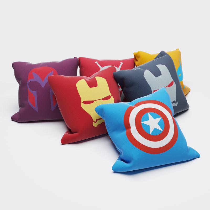 max superheroes pillows