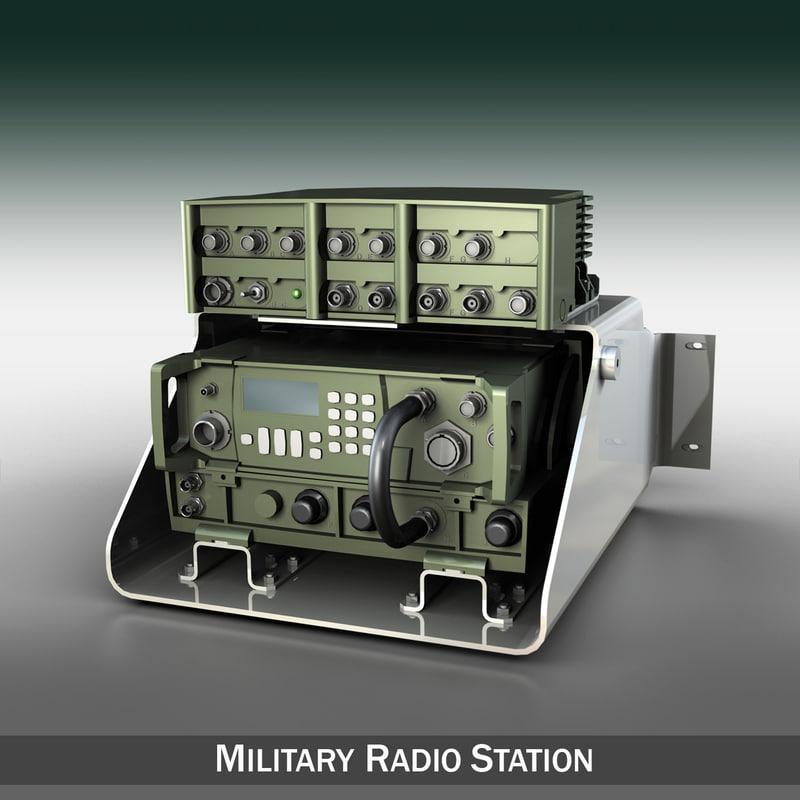 vhf military radio station c4d