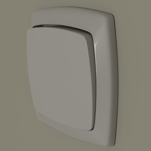 3d model light switch