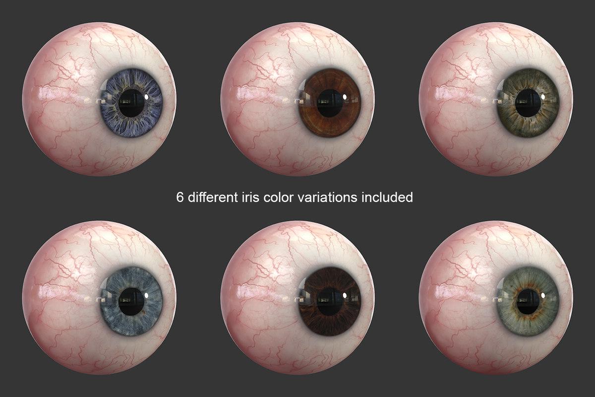 3d model human eye realistic