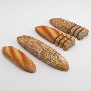 3d model breads coffee deli