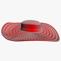 hat red 3d model