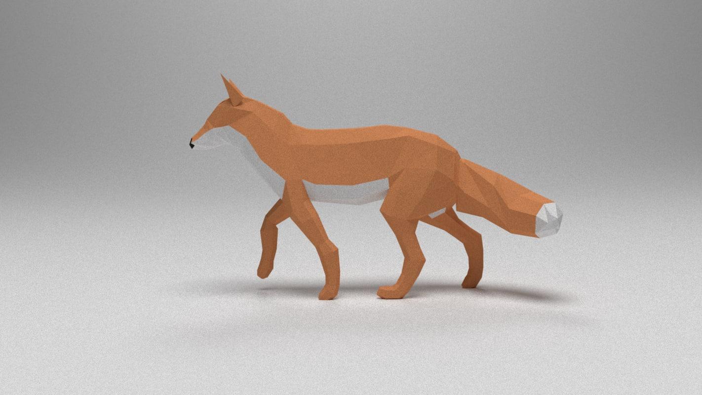 obj fox animation