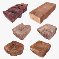 3d pack brick model
