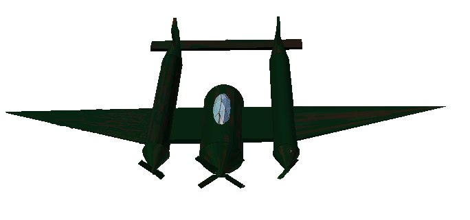 p-38 lightning fighter plane 3d obj