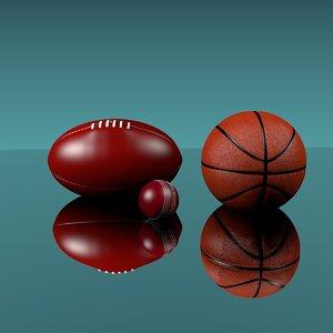 outdoor sporting balls 3d obj