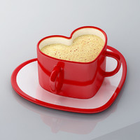 3d model heart shape cup