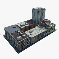 new york city block 3d model