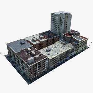 new york city block 3d model