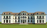 3d model classics baroque palace