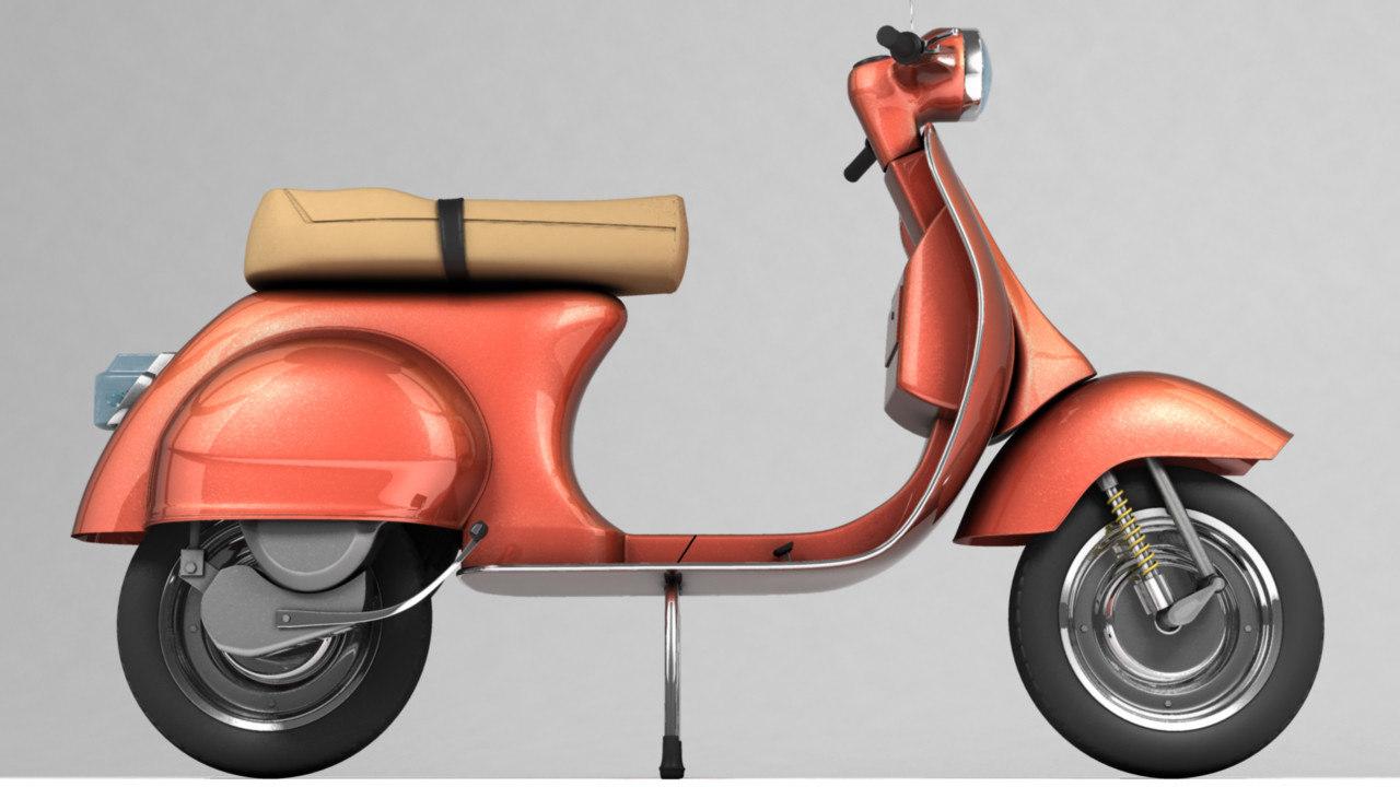 3d vespa old style