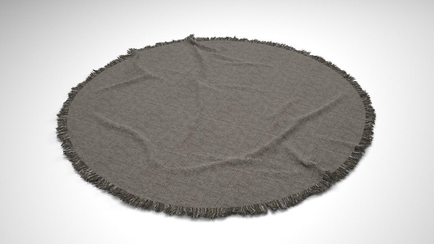 modern rug 3d model