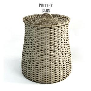 3d pottery barn grain basket model