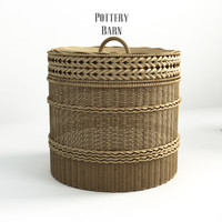 Pottery barn, Lidded Barrel Basket. - 2.