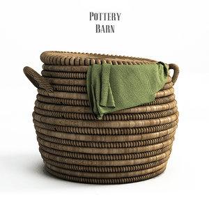 lexine lidded basket 3d model