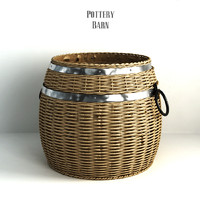 Pottery barn, Cask Lidded Basket.
