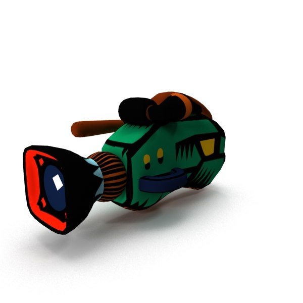 3ds cartoon movie camera