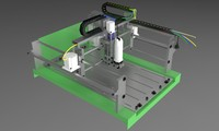 machine router cnc 3d model