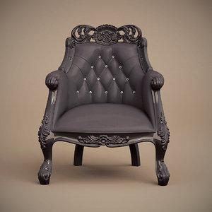f b armchair single 3d model