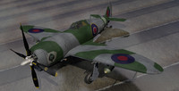 republic thunderbolt mk-1 raf 3d 3ds