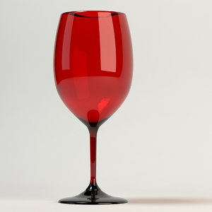 wine glass red 3d model