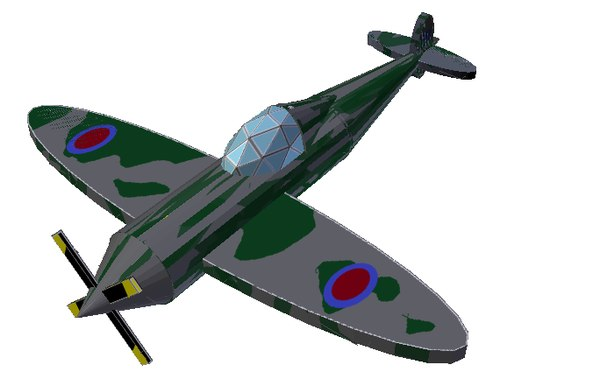 spitfire fighter wwii 3d obj