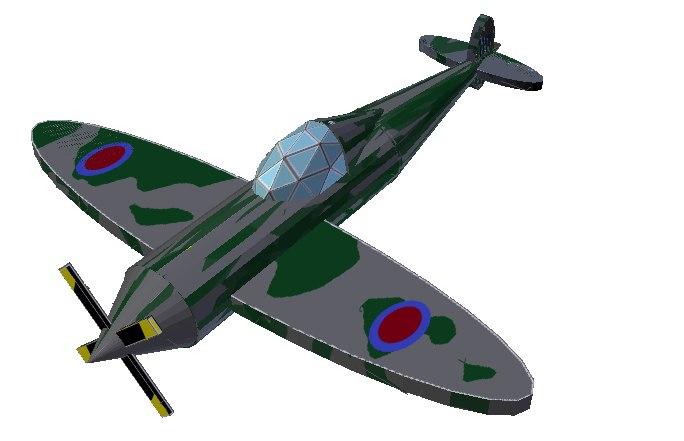 spitfire fighter wwii 3d obj