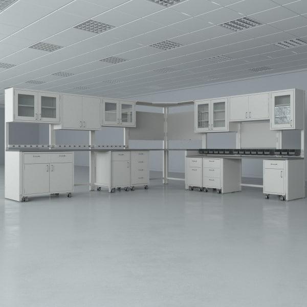 3d lab furniture typical set model