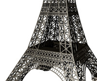 Eiffel Tower Simplified Structure Model - Full Scale MM