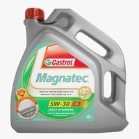 3d castrol magnatec oil model