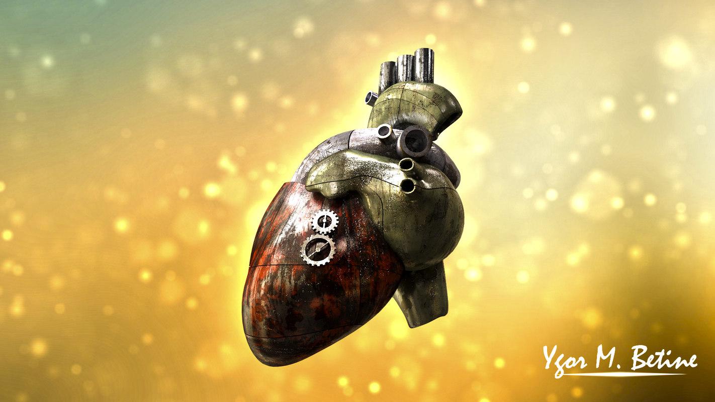 steampunk heart c4d