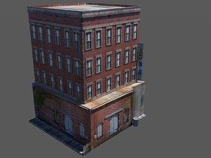 rundown hotel 3d model