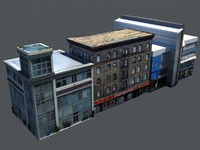 Low Poly Derelict Buildings Large