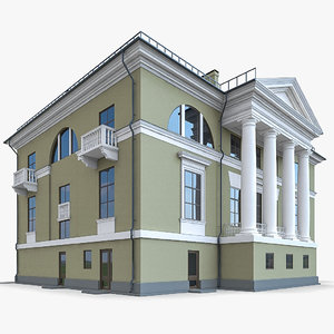 3d traditional building model