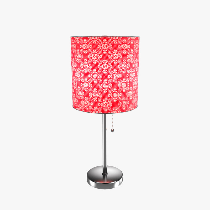 3d Model Pull Chain Table Lamp