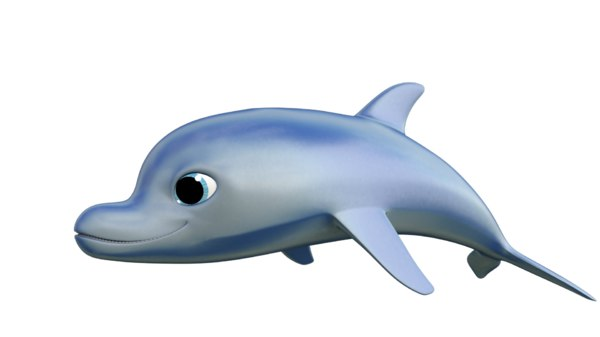 dolphin character 3d ma