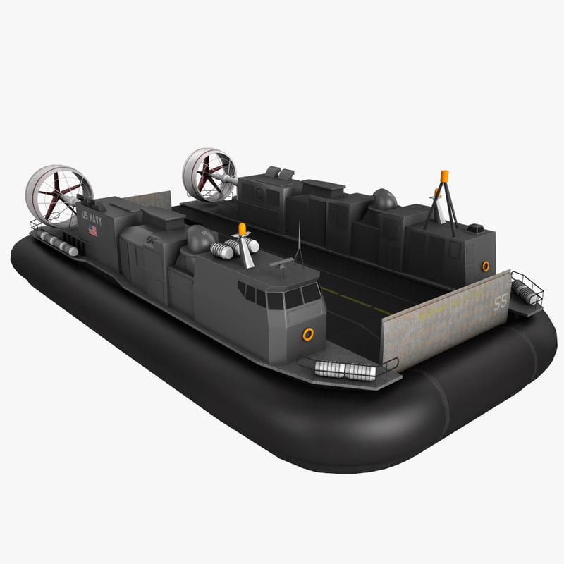 lcac hovercraft 3d max