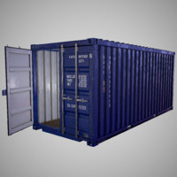 Shipping Container Low poly