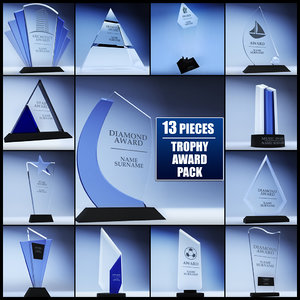3d model of pack trophy award cup