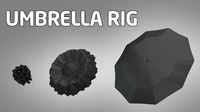3d rigged umbrella animation model