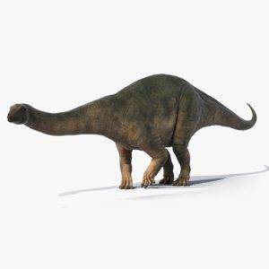 3d brontosaurus rigged